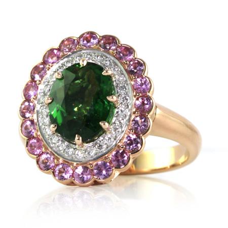 Chrome-tourmaline-diamond-ring-Brisbane-bentley-de-lisle