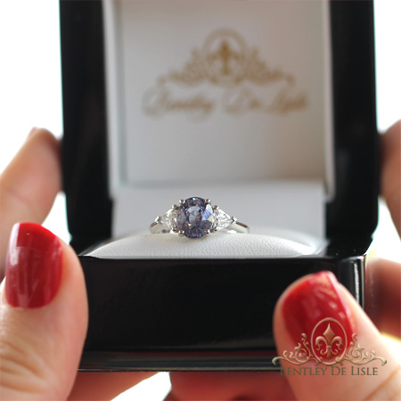 Spinel-trilliant-diamond-engagement-ring-bentley-de-lisle-jewellers