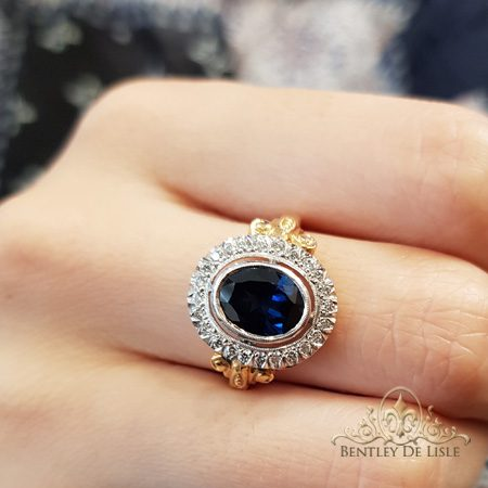 Australian-oval-Sapphire-antique-style-ring-bentley-de-lisle