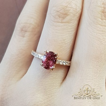 Pink-oval-tourmaline-diamond-ring-Brisbane-bentley-de-lisle