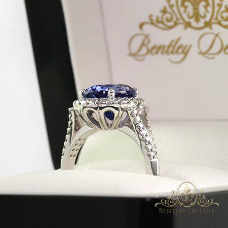 Tanzanite-oval-diamond-ring-bentley-de-lisle
