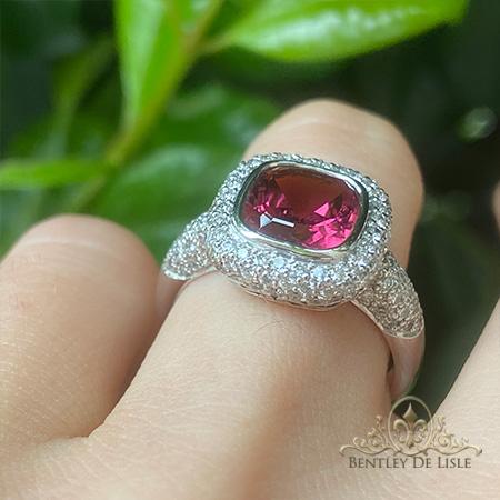 Tourmaline-diamond-pave-ring-brisbane-jeweller-bentley-de-lisle