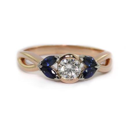 Rose-gold-sapphire-diamond-engagement-ring-bentley-de-lisle