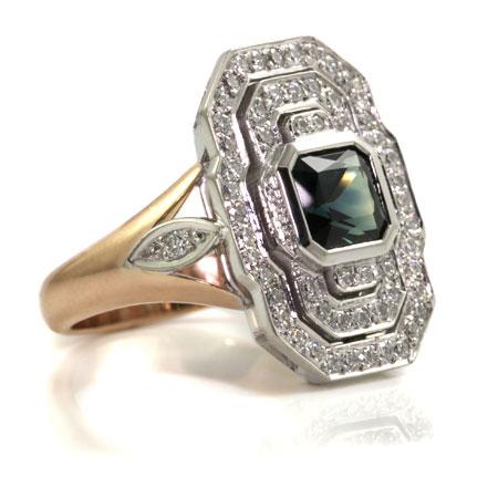 Art-deco-parti-sapphire-engagement-ring-bentley-de-lisle