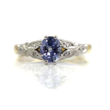 Ceylon-sapphire-vintage-style-engagement-ring-bentley-de-lisle