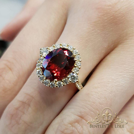Oval-garnet-diamond-ring-bentley-de-lisle-Brisbane
