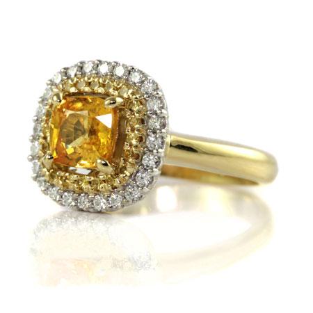 Yellow-sapphire-double-halo-engagement-ring-bentley-de-lisle