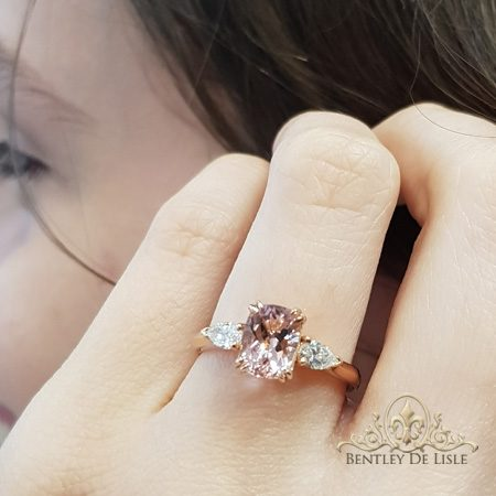 Morganite-diamond-three-stone-engagement-ring-bentley-de-lisle-jewellers