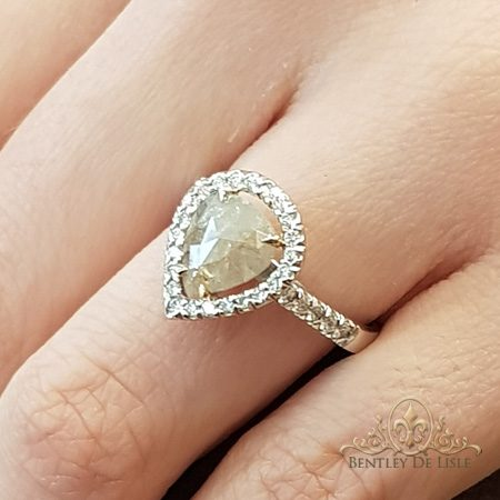 Rose-cut-diamond-ring-bentley-de-lisle-Brisbane