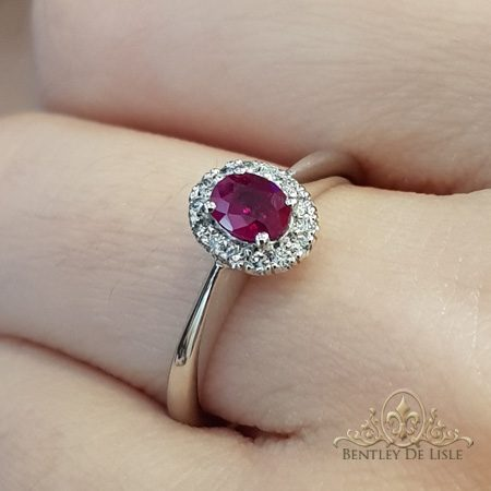 Ruby-diamond-engagement-ring-bentley-de-lisle-jewellers-Brisbane