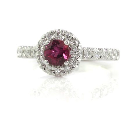 Pink-Tourmaline-Halo-ring-front-bentley-de-lisle