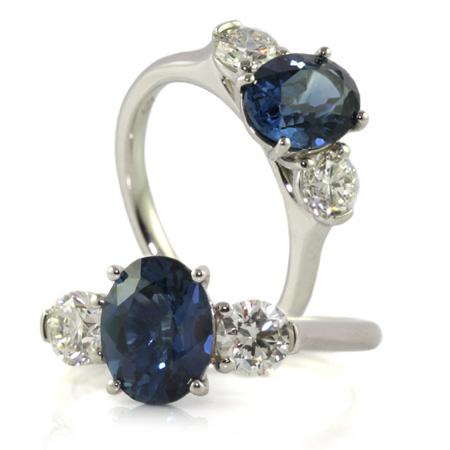 Australian-oval-blue-sapphire-diamond-engagement-ring-bentley-de-lisle