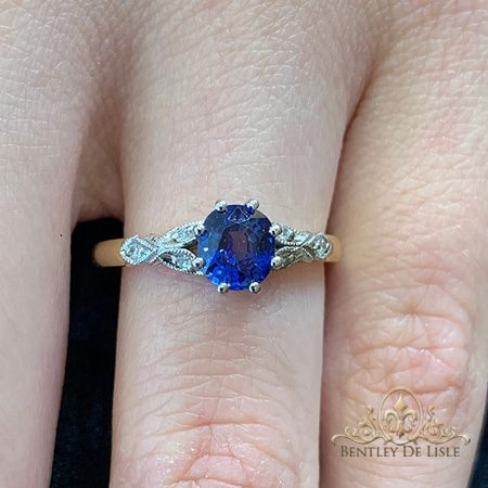Edwardian-blue-sapphire-engagement-ring-bentley-de-lisle