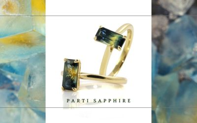 Parti Sapphire Engagement Rings