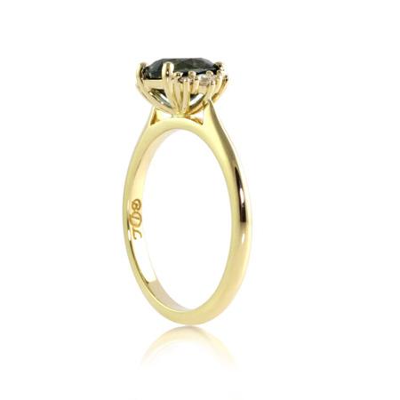 Australian-sapphire-rectangle-cushion-diamond-engagemnet-ring-side-bentley-de-lisle