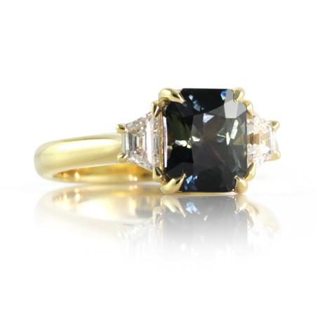 Colour-change-sapphire-trapezoid-diamond-engagement-ring-bentley-de-lisle