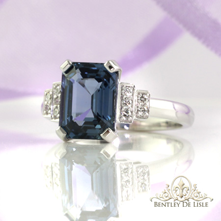 3.03ct-emerald-cut-Ceylon-blue-sapphire-eternity-engagement-ring-bentley-de-lisle