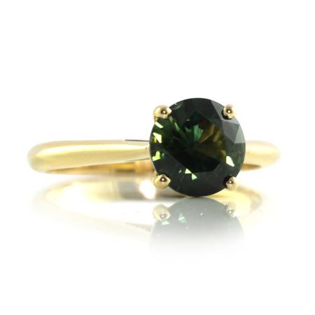 Green-Australian-sapphire-solitaire-engagement-ring-bentley-de-lisle