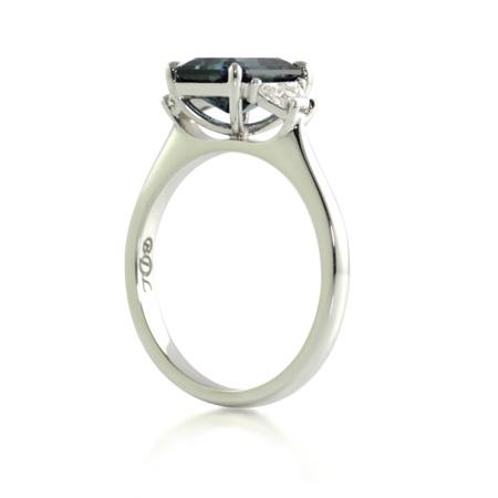 Radiant-cut-australian-sapphire-diamond-engagement-ring-side-bentley-de-lisle