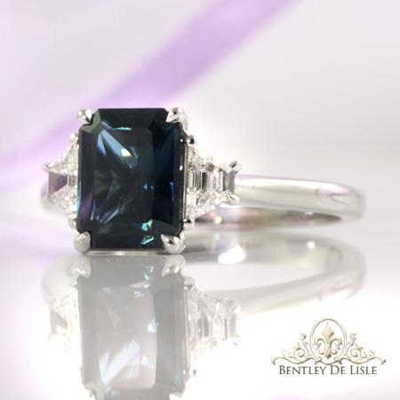 2.72ct-Australian-teal-radiant-cut-sapphire-engagement-ring-bentley-de-lisle