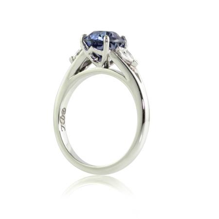 Ceylon-blue-purple-sapphire-pear-diamond-engagement-ring-side-bentley-de-lisle