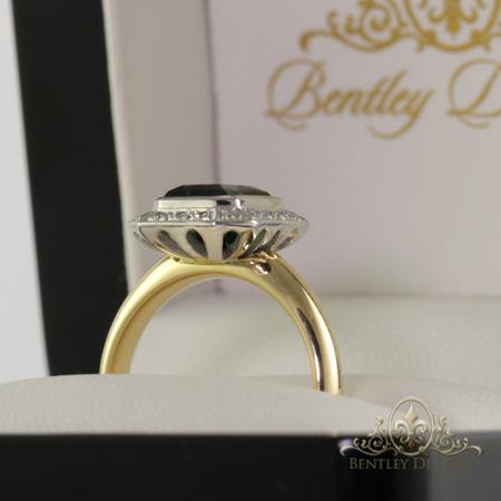 Green-tourmaline-diamond-ring-side-Brisbane-bentley-de-lisle