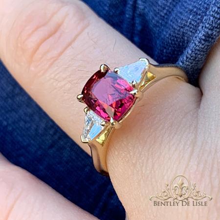 Red-spinel-diamond-ring-Paddington-bentley-de-lisle