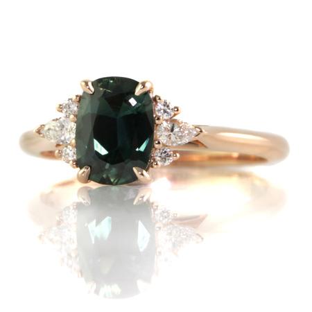 Green-cushion-sapphire-diamond-engagement-ring-bentley-de-lisle