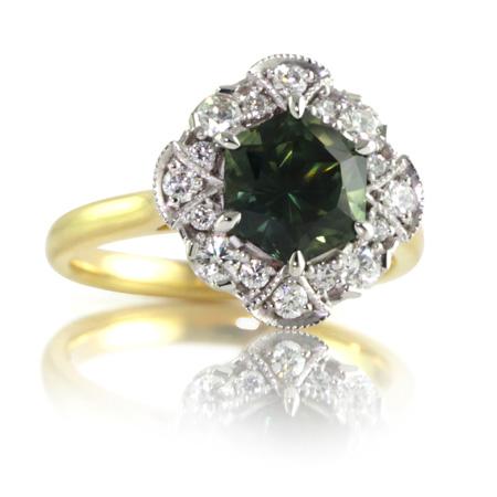 Hexagon-Australian-Sapphire-Flower--Cluster-ring-bentley-de-lisle