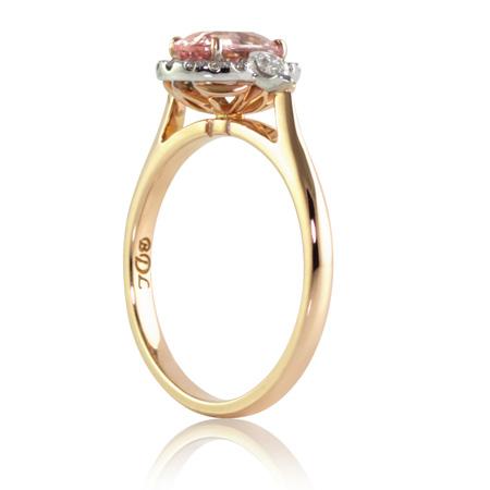 Pink-padparadscha-sapphire-diamond-ring-side-bentley-de-lisle