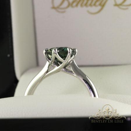Teal-Australian-sapphire-solitaire-ring-side-bentley-de-lisle