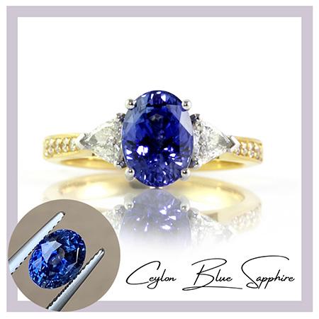 Ceylon-blue-sapphire-trilliants-bentley-de-lisle