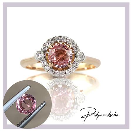Padparadscha-sapphire-halo-ring-bentl;ey-de-lisle