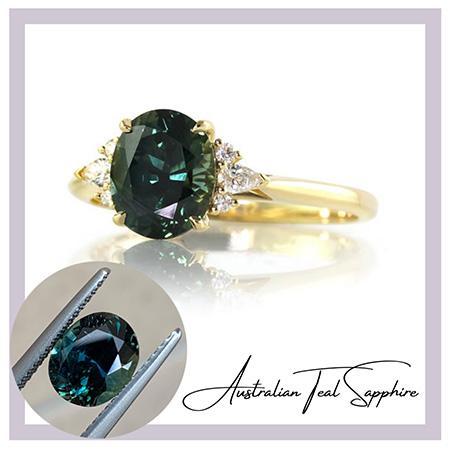 Teal-sapphire-engagement-ring-bentley-de-lisle