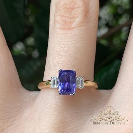 Violet-Emerald-Cut-Sapphire-Ring-Brisbane-bentley-de-lisle