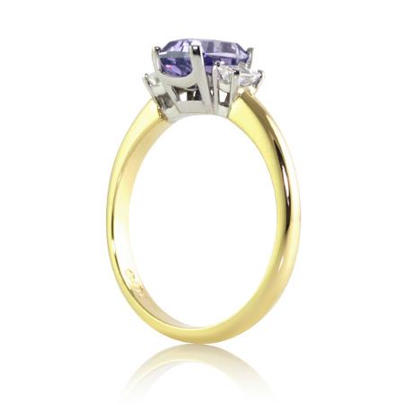 Violet-Emerald-Cut-Sapphire-Ring-Paddington-bentley-de-lisle