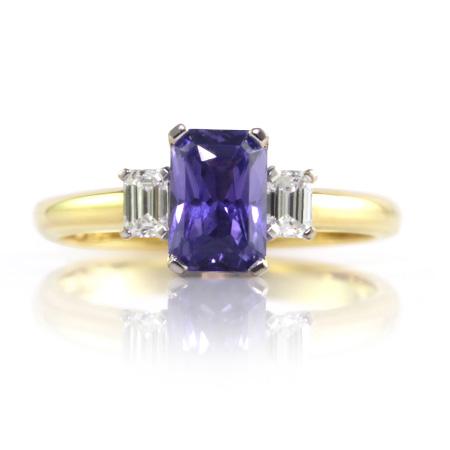 Violet-Emerald-Cut-Sapphire-Ring-bentley-de-lisle