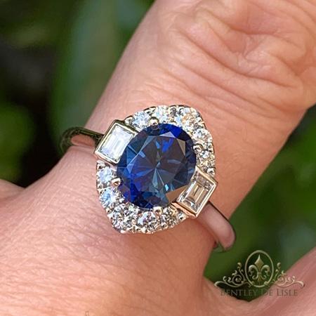 Blue-sapphire-vintage-style-ring-Paddington-bentley-de-lisle