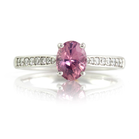 Oval-Padparadscha-diamond-engagement-ring-Brisbane-bentley-de-lisle