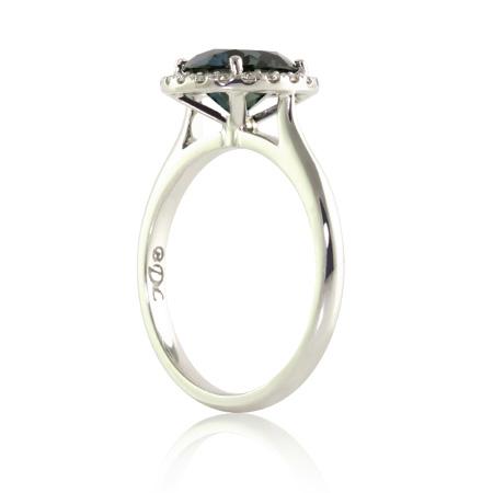 Teal-Sapphire-Halo-Engagement-Ring-Brisbane-bentley-de-lisle
