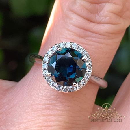 Teal-Sapphire-Halo-Engagement-Ring-Paddington-bentley-de-lisle