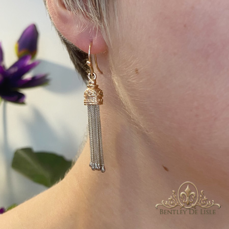 Albertina-rose-gold-tassel-earrings-bentley-de-lisle-Brisbane