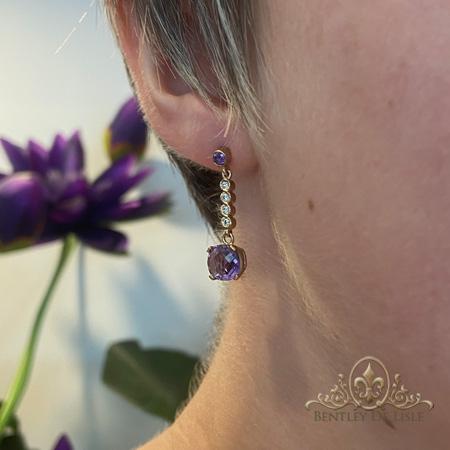 Cushion-Amethyst-diamond-earrings-bentley-de-lisle