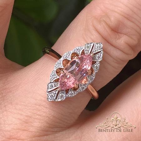 Padparadscha-marquise-sapphire-art-deco-ring-bentley-de-lisle