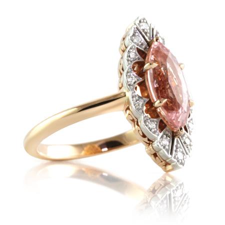 Padparadscha-sapphire-art-deco-ring-brisbane-bentley-de-lisle