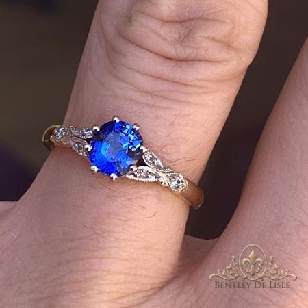 Edwardian-blue-sapphire-engagement-ring-bentley-de-lisle-Brisbane