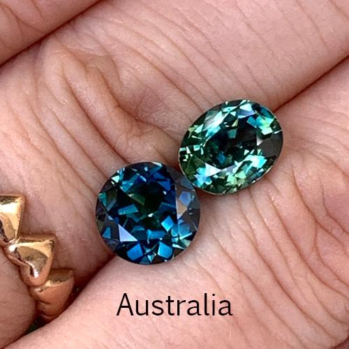 Teal-sapphires-Australia-bentley-de-lisle