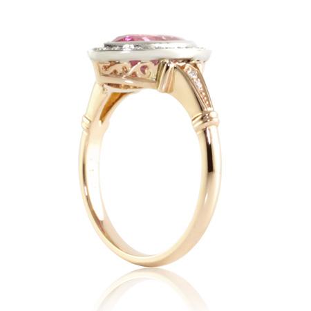 Pink-marquise-sapphire-vintage-style-ring-Brisbane-bentley-de-lisle