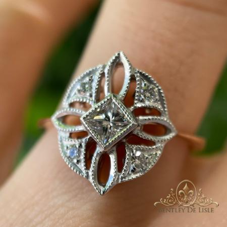 Diamond-art-deco-dress-ring-Brisbane-bentley-de-lisle