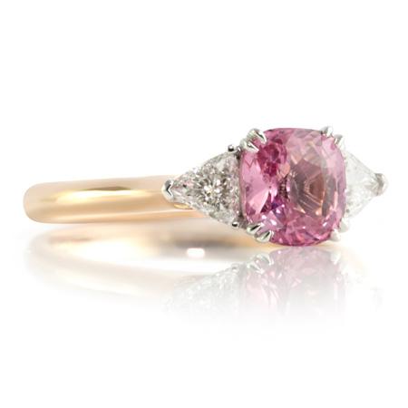 Padpardscha-sapphire-trilliant-cut-diamond-ring-bentley-de-lisle